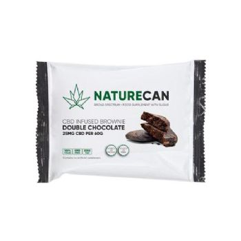 Naturecan 25mg CBD Double Chocolate Vegan Brownie 60g